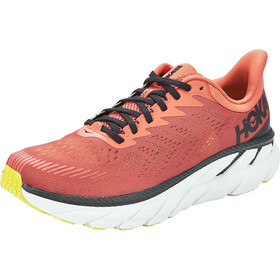Hoka One One Clifton 7 Scarpe da corsa Uomo, chili/black